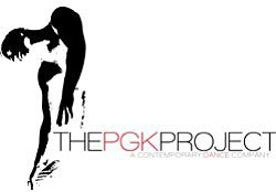 Graphic logo for PGK Dance Project, a contemporary dance company.