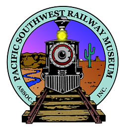 Graphic logo of the Pacific Southwest Railway Museum.