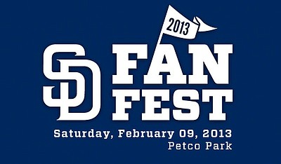 Promotional graphic for the San Diego Padres FanFest on S...