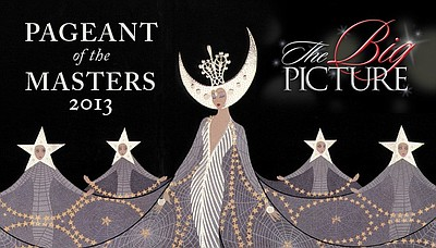 Promotional graphic for the Pageant of the Masters 2013. Courtesy of Festival of the Arts / Pageant of the Masters.