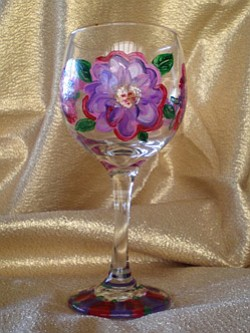 Promotional image of Painted Wine Glass at Bravo School of Art. Courtesy image of Bravo School of Art.