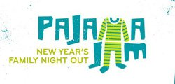 Promotional graphic for Pajama Jam: New Year's Family Night Out. Courtesy of The New Children's Museum.