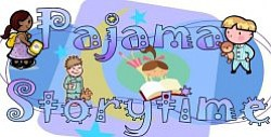 Promotional image for Pajama Storytime at University Community Branch Library every Wednesday at 6:30pm.