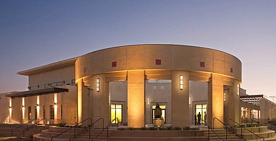 Exterior image of the Parma Payne Goodall Alumni Center at SDSU.
