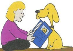 Promotional image of Paws to Read on Thursday, May 23rd at 4:00 -4:30 p.m. at the University Community Branch Library.