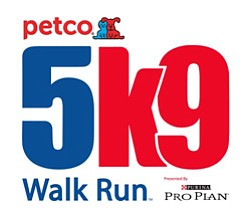 Graphic logo for Petco's 5k9 Run/Walk.