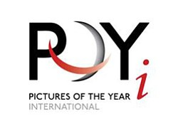 Promotional logo for Picture Of The Year International at MOPA on June 1, 2013.