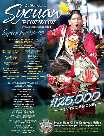 Promotional image for the 2013 Sycuan Pow-Wow.
