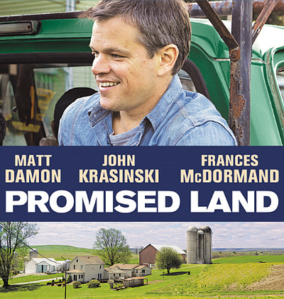 "Promotional graphic for the film, ""Promise Land"""