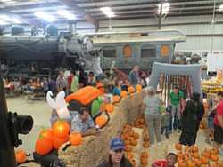 Promotional photo of  The Pumpkin Express & Great Pumpkin Patch on Saturdays & Sundays from Oct. 12th through Oct. 27, 2013. Courtesy photo of Pacific Southwest Railway Museum Association, Inc.