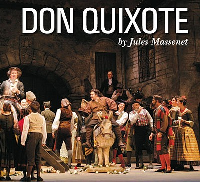 "Promotional image for the opera, ""Don Quixote"", which will be playing at the San Diego Civic Theatre."