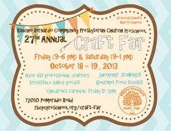 Promotional graphic for the 27th Annual Craft Fair & Children's Carnival.