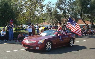 Photo of the Community Fair Parade from a previous year.