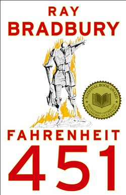 "Promotional book cover of Ray Bradbury's ""Fahrenheit 451."""