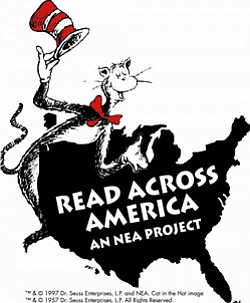 Promotional image of Read Across America an NEA Project. Courtesy image of Read Across America.
