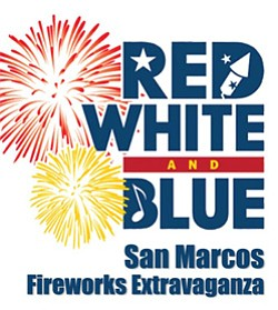 Promotional photo of San Marcos' Red White & Blue Firewor...
