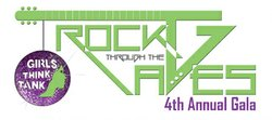 "Promotional graphic for the ""Rock Through The Ages"" Gala taking place at the Museum of Man on May 11th, 2013. Courtesy of Girls Think Tank."