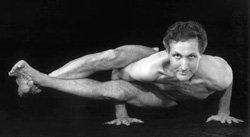 Promotional image of Roger Cole doing Yoga.