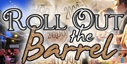 Promotional graphic for the 'Roll Out The Barrel' on July 13th, 2013 at 5pm.