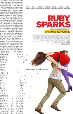"""Promotional movie poster for """"Ruby Sparks"""" playing at Central Public Library."""