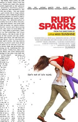 "Promotional movie poster for ""Ruby Sparks"" playing at Central Public Library."