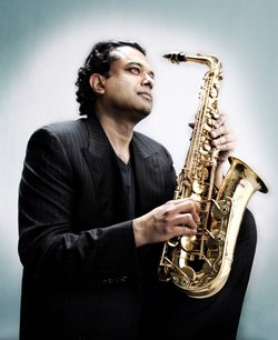 Image of saxophonist, Rudresh Mahanthappa.