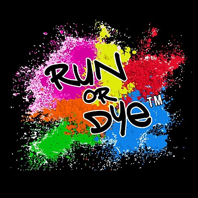 Promotional graphic for Run or Dye on May 17th, 2014.