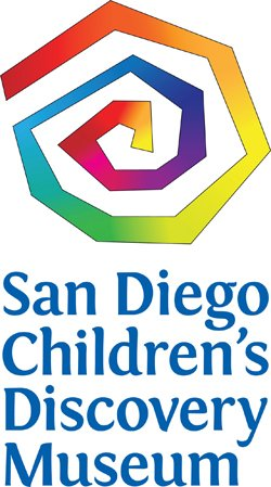 Graphic logo for the San Diego Children's Discovery Museum, located at 320 North Broadway Escondido, CA 92025. Courtesy of San Diego Children's Discovery Museum