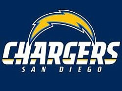 Promotional graphic for the San Diego Chargers. Courtesy of San Diego Chargers