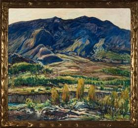 "Charles Reiffel, ""In the San Felipe Valley."" Oil on canva..."