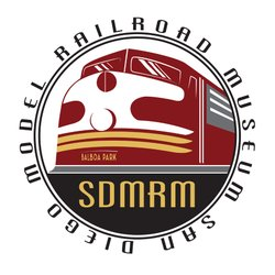 Graphic logo for the San Diego Model Railroad Museum.