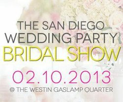 Promotional graphic for the San Diego Wedding Party Bridal Show 2013.
