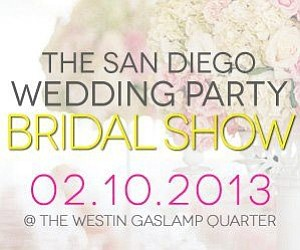 Promotional graphic for the San Diego Wedding Party Brida...