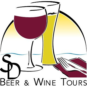 Graphic logo for the San Diego Beer & Wine Tours, who will be hosting a Father's Day Beer Train Tour from June 1st to June 30th, 2013.