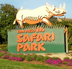Exterior image of the San Diego Zoo Safari Park sign.