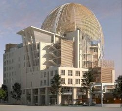 Exterior image of San Diego Central Public Library located in Downtown.