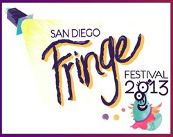 Graphic logo for the San Diego Fringe Festival, July 1-7, 2013.