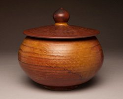 Promotional image of pottery, for San Diego Potters' Guild's June Patio Show & Sale: Clay Works on Saturday, June 8th and Sunday, June 9th.