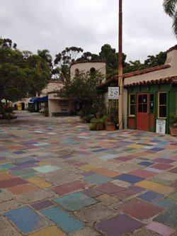 Exterior image of the San Diego Potters' Guild courtyard.