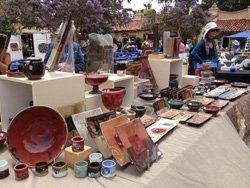 Promotional image for the San Diego Potters' Guild Patio Show & Sale on Saturday November 9th & Sunday November 10 from 10am-4pm. Courtesy image from the San Diego Potters' Guild.