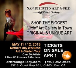 Promotional image for the San Dieguito Art Guild Mother's Weekend.