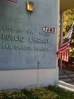 Exterior image of the San Carlos Branch Library, where the Get Fit At Your Library Program will take place.