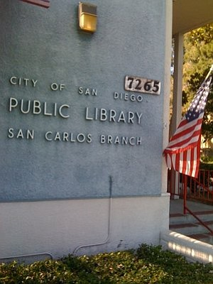Exterior image of the San Carlos Branch Library, where th...