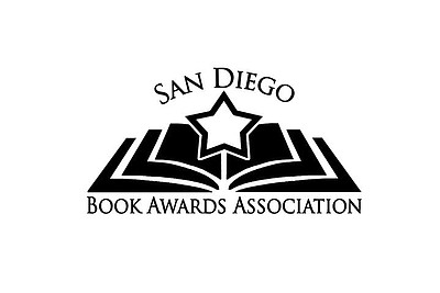 Graphic logo for the San Diego Book Awards Association, who will be presenting the 19th Annual San Diego Book & Writing Awards on June 22nd, 2013.