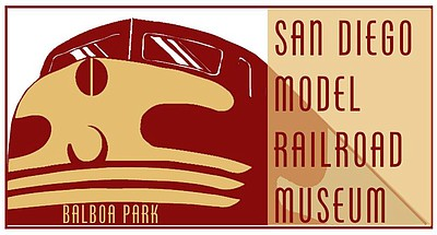 Logo for the San Diego Model Railroad Museum.