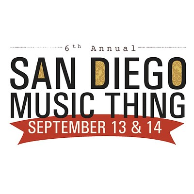 Promotional graphic for the 2013 San Diego Music Thing. C...