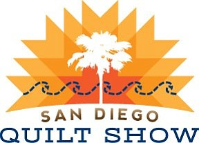 Graphic logo for the 32nd Annual San Diego Quilt Show taking place September 5-7, 2013.