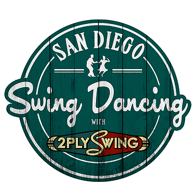 Graphic logo for San Diego Swing Dancing.