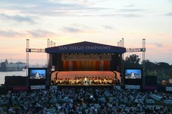 Image of the San Diego Symphony Summer Pops Series from a previous year. Courtesy of the San Diego Symphony.
