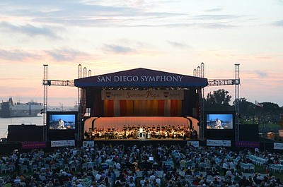 Image of the San Diego Symphony Summer Pops Series from a...